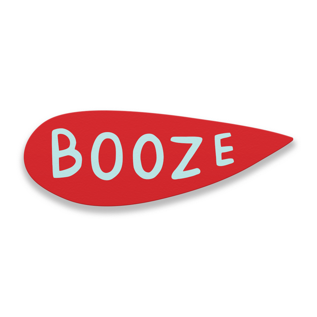 Booze - Martha Rich Word Bubble Panel