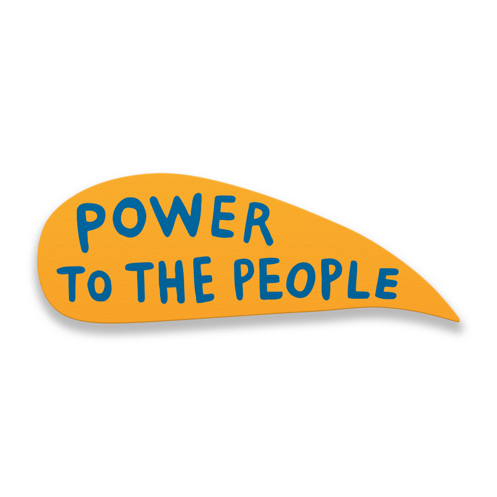Power to the People - Martha Rich Word Bubble Panel