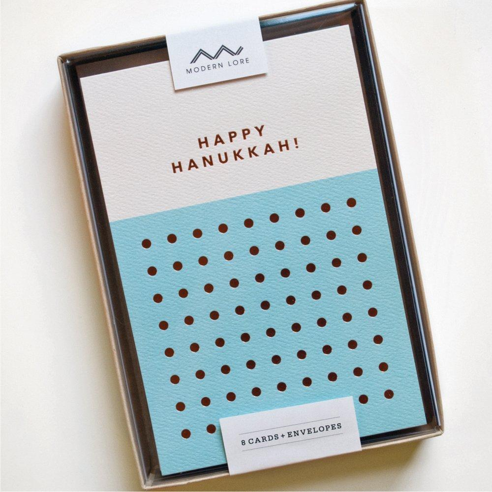 Happy Hanukkah Dots Card Set