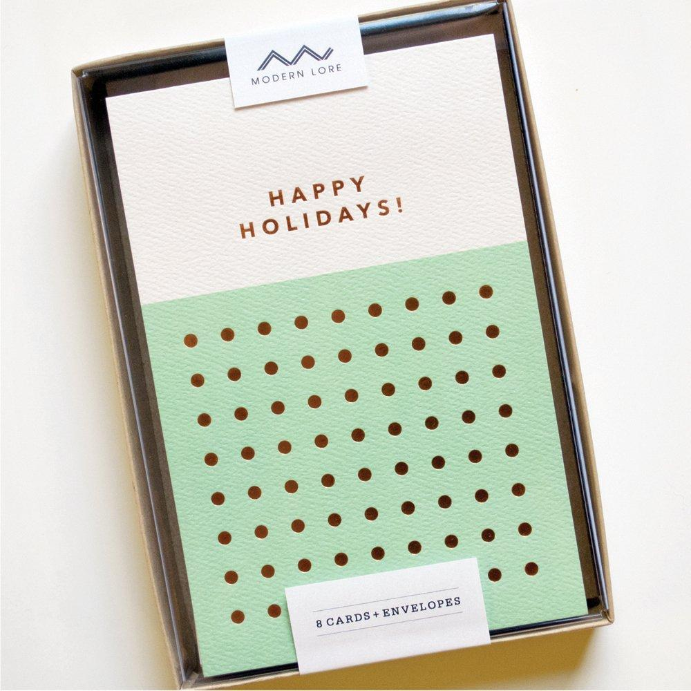 Happy Holidays Dots Card Set