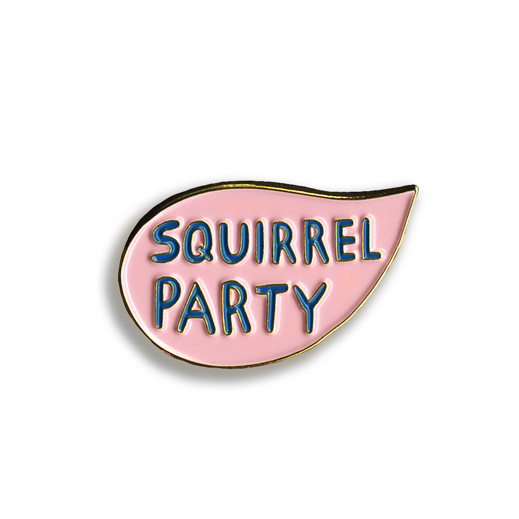 Squirrel Party Pin