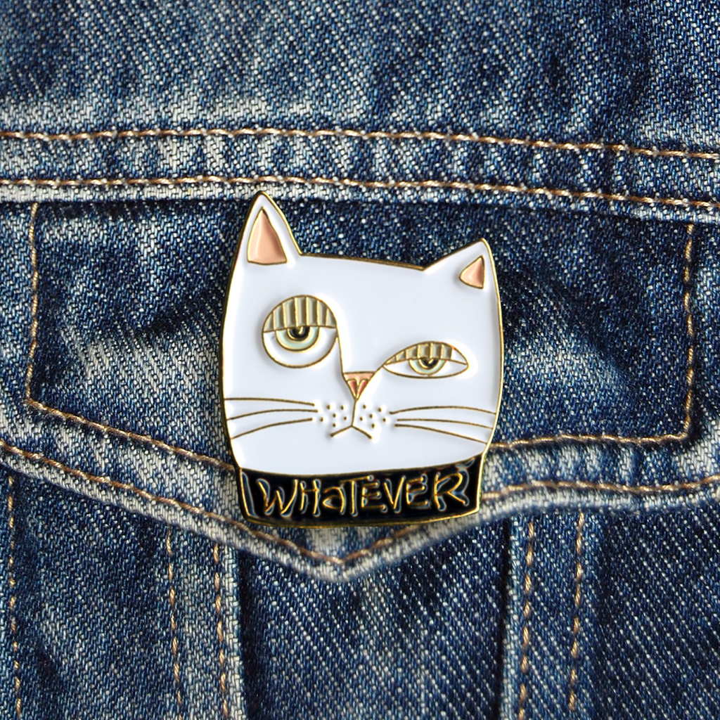 Whatever Cat Pin