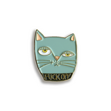 Fuck Off Cat Pin