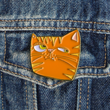 Orange Cat Pin