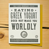 Greek Yogurt Card