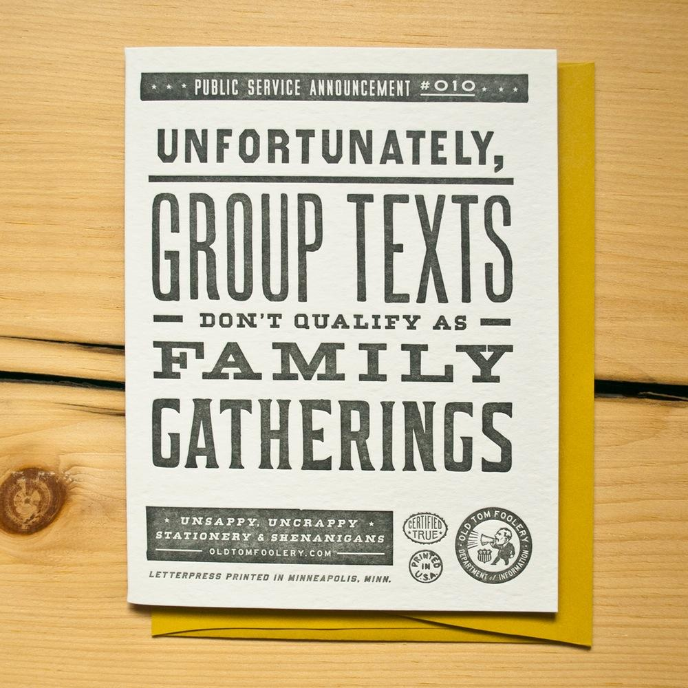 Group Texts Card