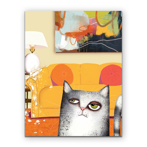 Cat Birthday Yay Card