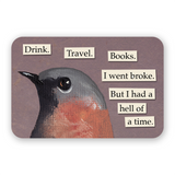Drink. Travel. Books. Sticker