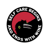 Self-Care Round Sticker
