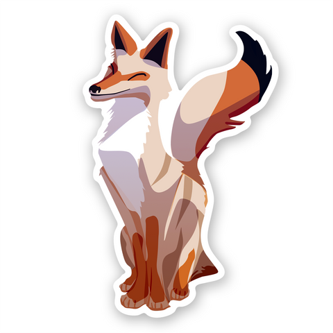 Coyote Joshua Tree Sticker