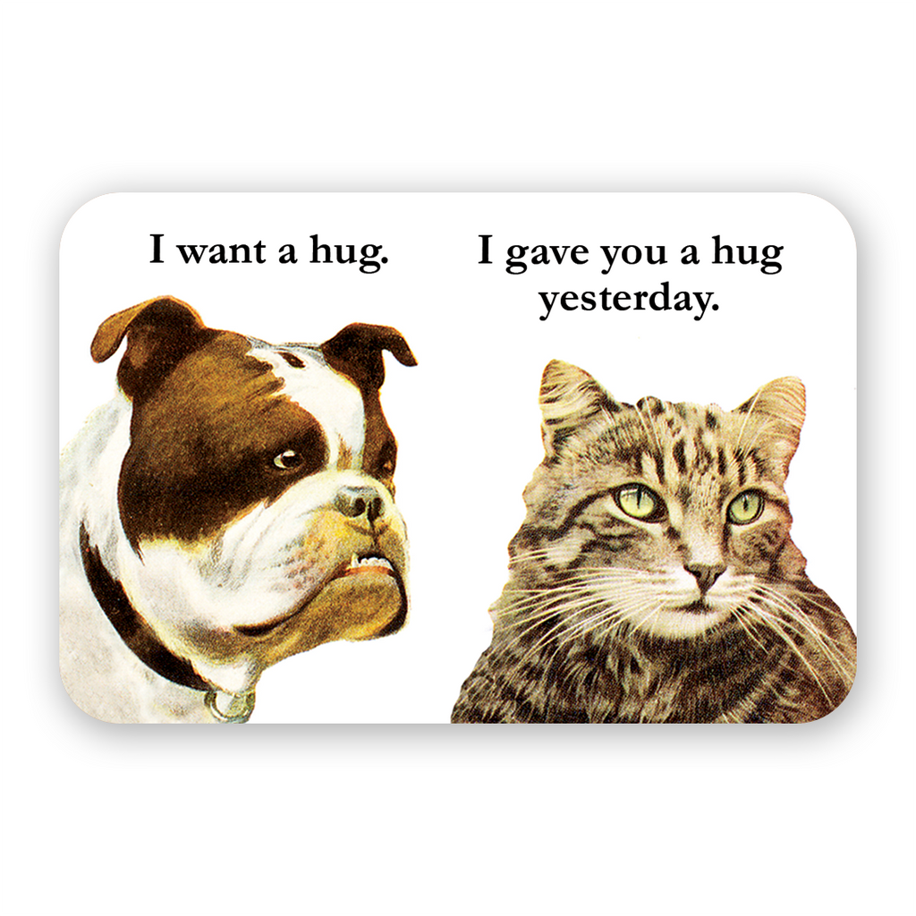 Bulldog Hug Sticker