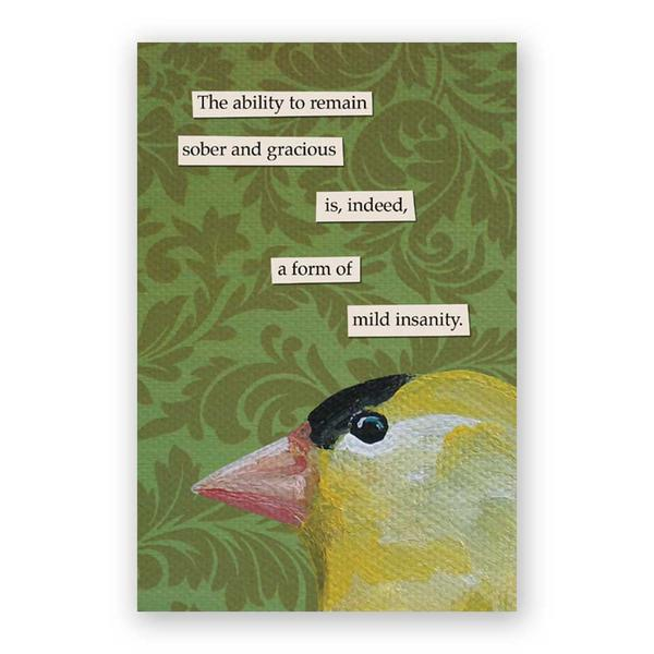 Sober Postcards - Set of 12 - Troubled Birds