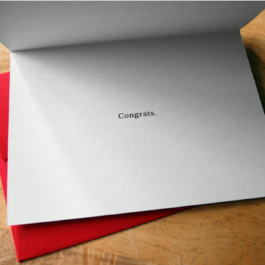 Can't Spell Congratulations Card