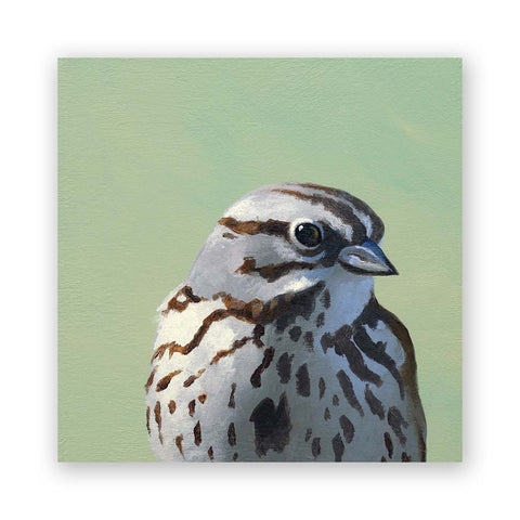 8 x 8 Oak Titmouse on Wood Decor