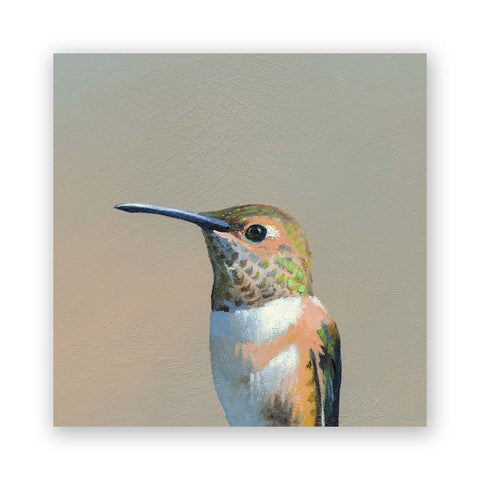 8 x 8 Hummingbird Pair Wings on Wood Decor