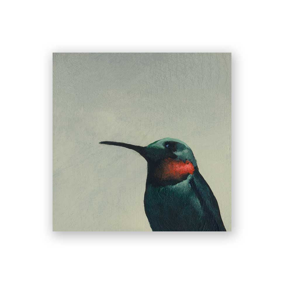 4 x 4 Hummingbird #6 Wings on Wood Decor