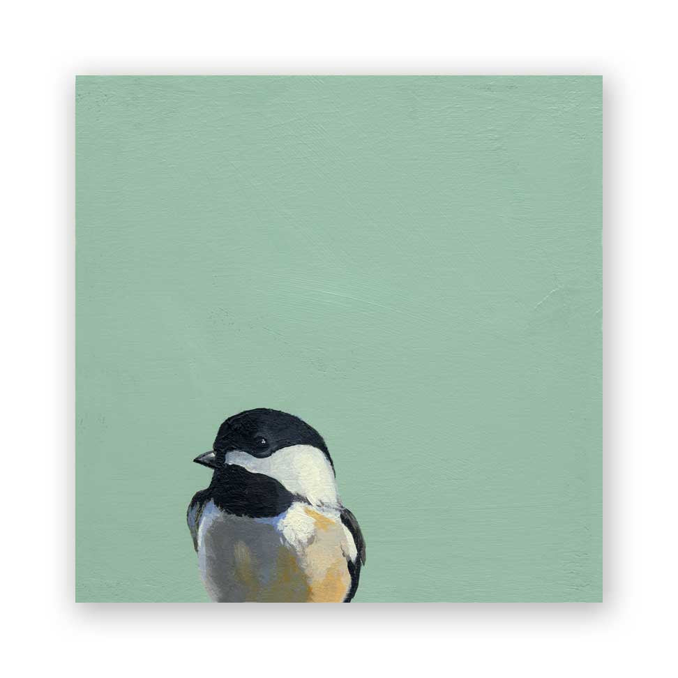6 x 6 Chickadee Wings on Wood Decor
