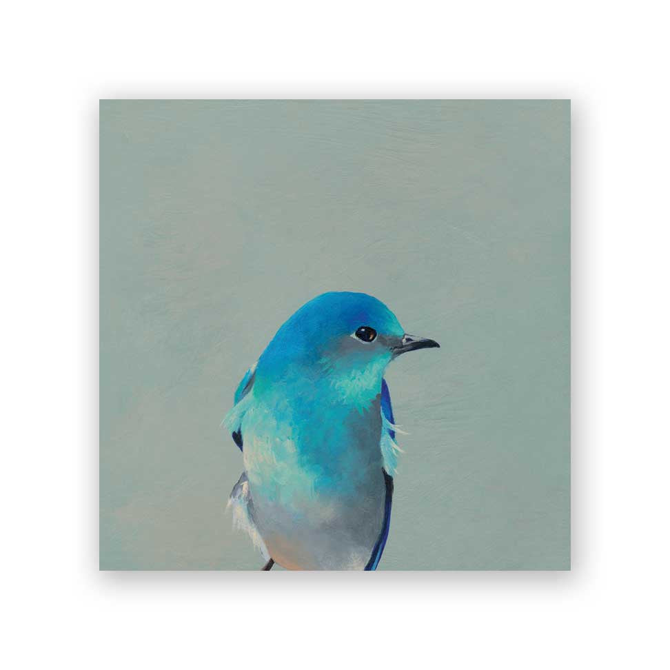 Mountain Bluebird Wood Panel