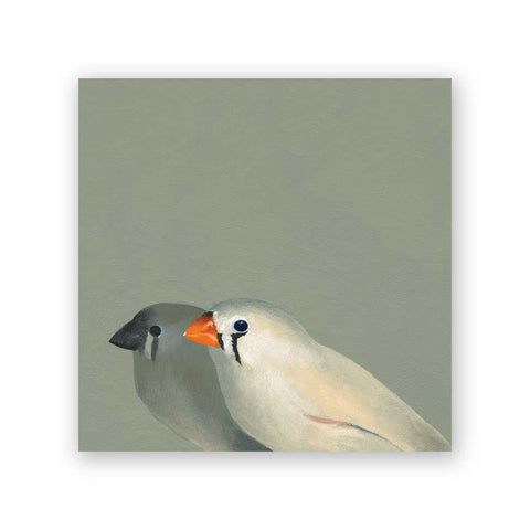 8 x 8 Yellow-Faced Grassquit on Wood Decor