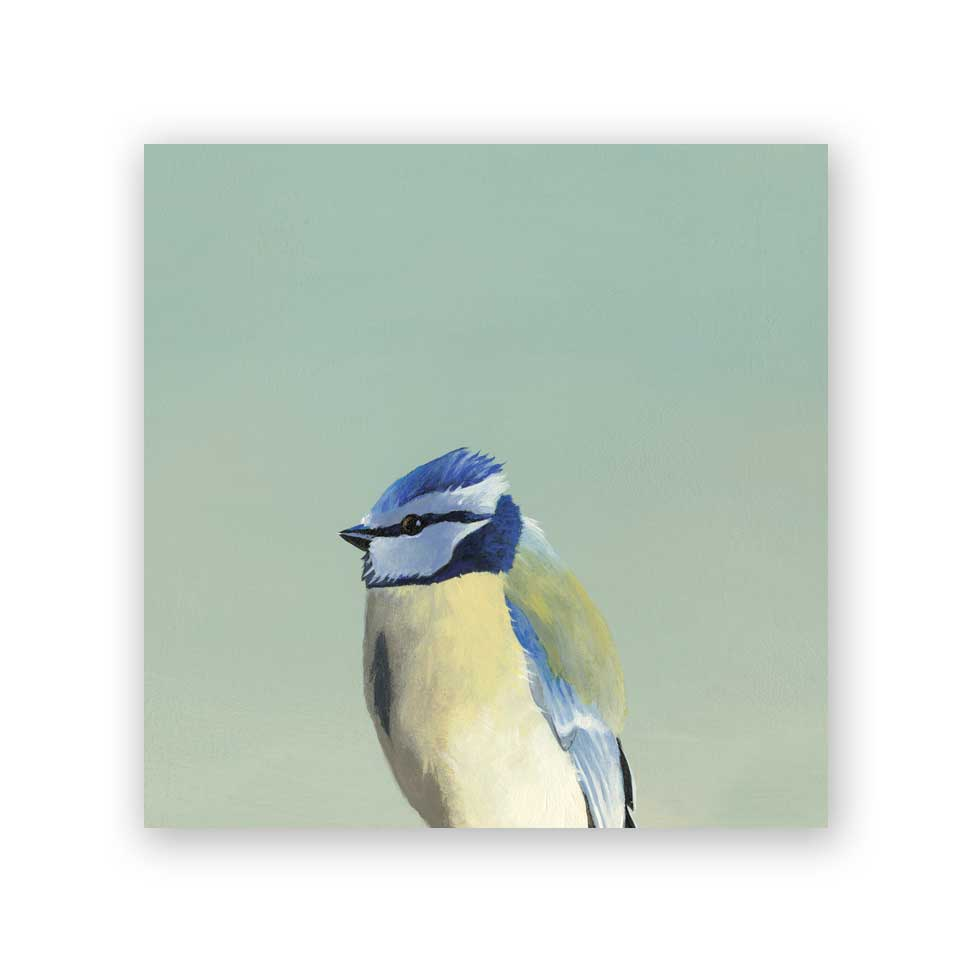 Blue Tit Wood Panel