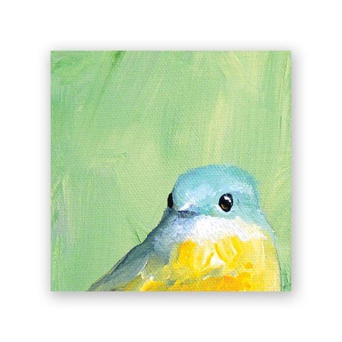 8 x 8 Yellow Bird Wings on Wood Decor