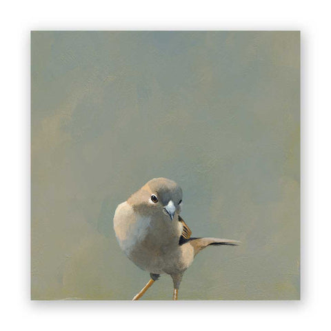 8 x 8 Long-Tailed Tit Wings on Wood Decor