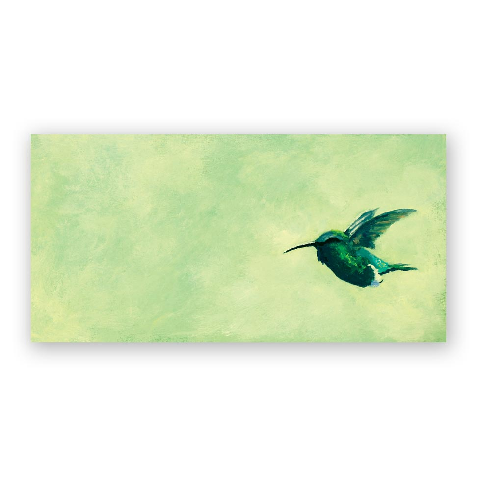 Green Hummingbird Panel