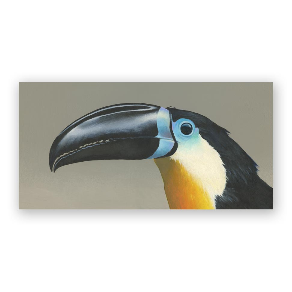 12 x 6 Panel - Toucan Wings on Wood Decor