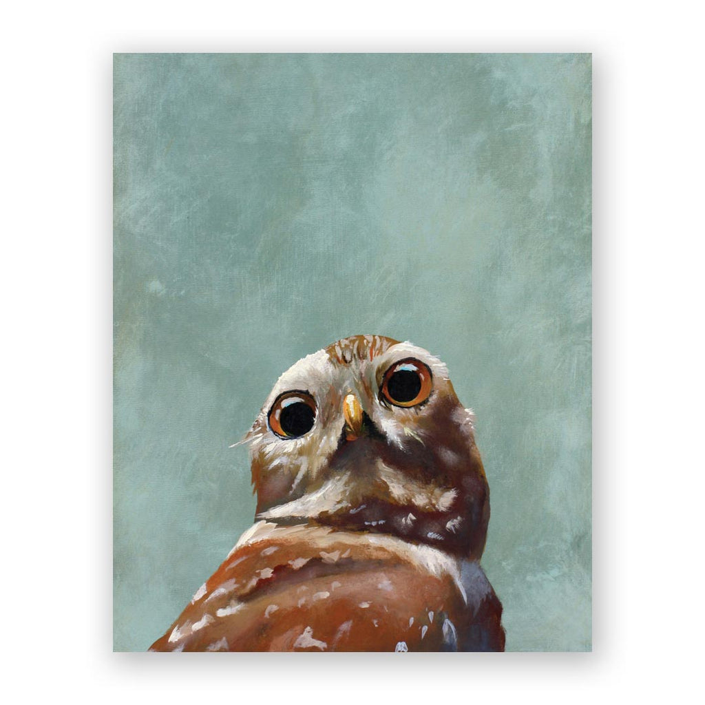 8 x 10 Panel - Owl Wings on Wood Decor