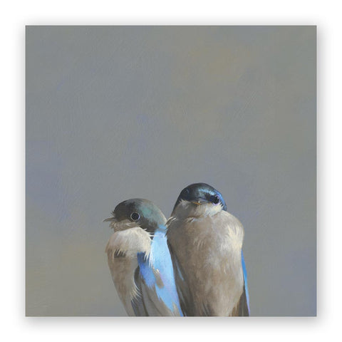 10 x 10 Finch Family Wings on Wood Decor