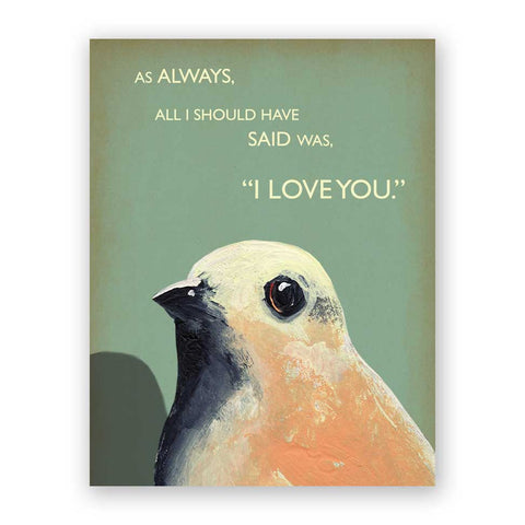 Bird Yelling Happy Birthday Card