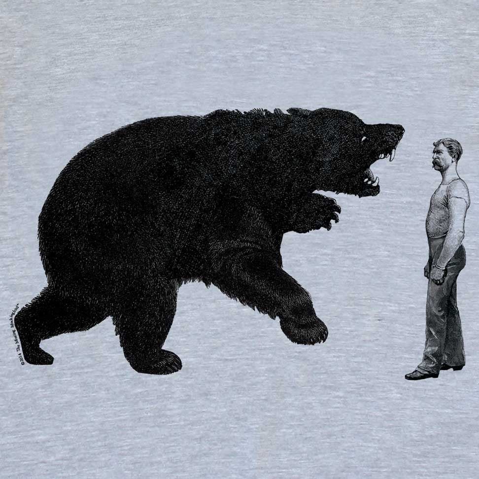 Man v. Bear - Women's - American Apparel Tri Blend