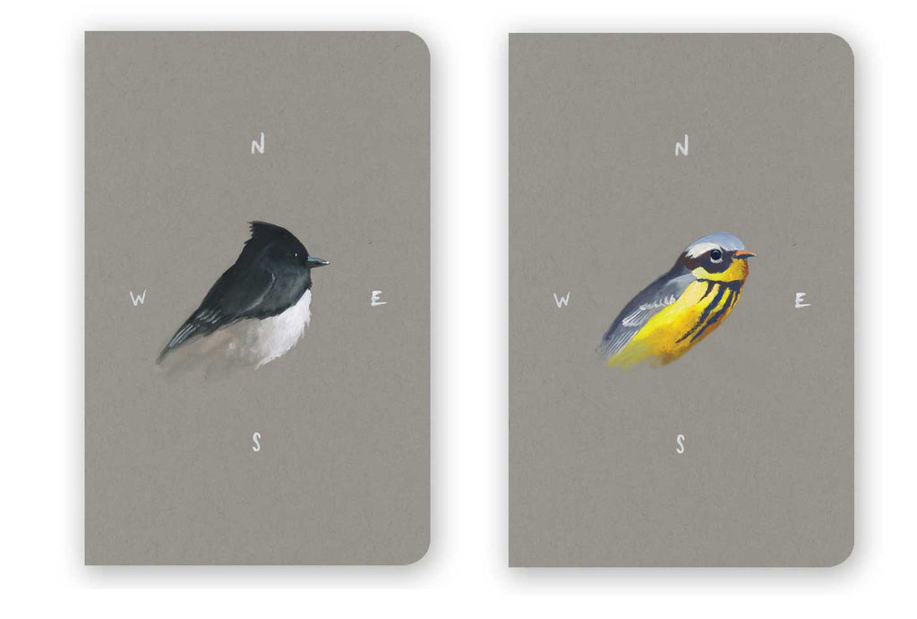 Set of 2 Watercolor Birds Mini-Notebooks - Collection 1