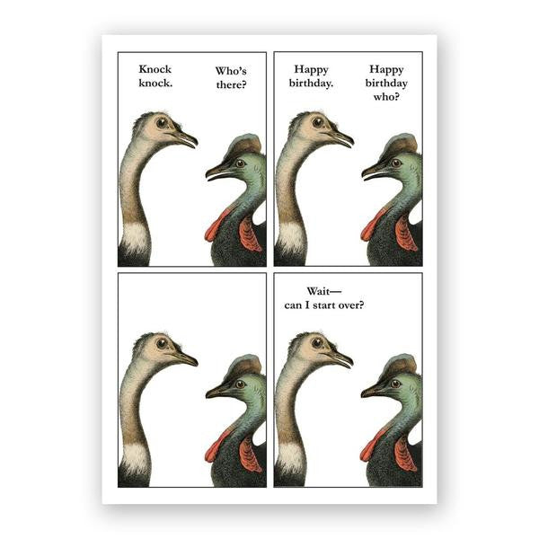 Cassowary Knock Knock Card