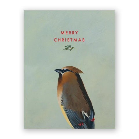 Bird Yelling Merry Christmas Card
