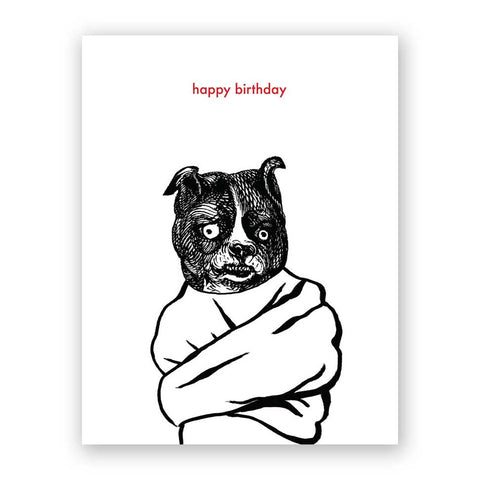 Man vs. Bear Birthday Card
