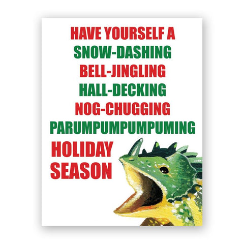 Hanukkah Bird Yelling Card