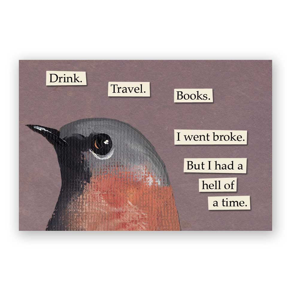 Drink Travel Books Magnet