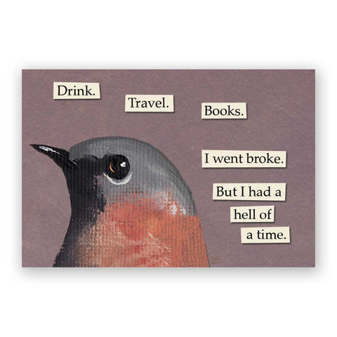 Creepy Postcards - Set of 12 - Troubled Birds