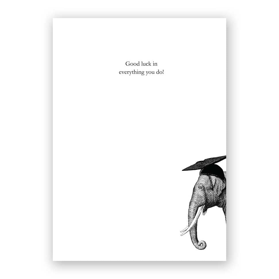 Elephant Graduation Card