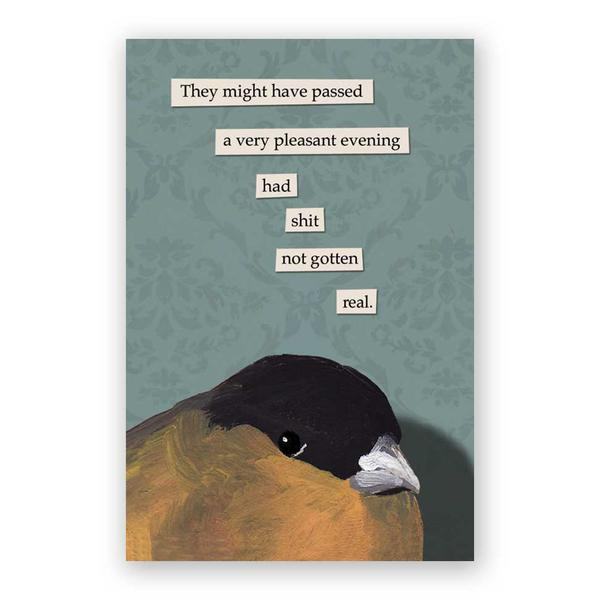 Passed a Pleasant Evening Postcards - Set of 12 - Troubled Birds