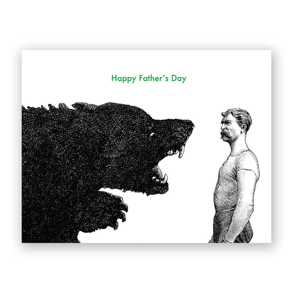 Man vs Bear Father's Day Card