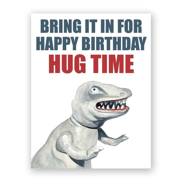 Happy Birthday Hug Time Card