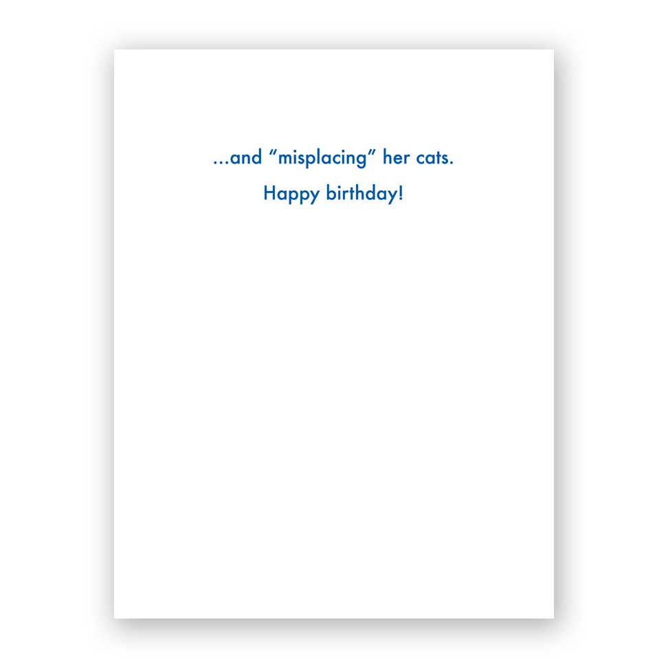 Forgetting Her Age Birthday Card