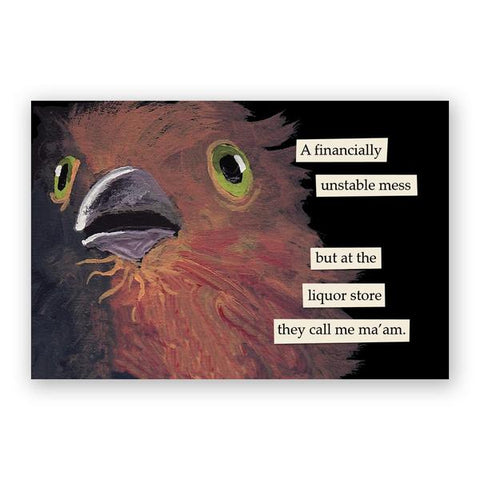 3 Oz Postcards - Set of 12 - Troubled Birds