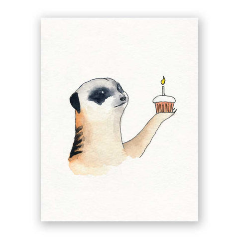 Raccoon Birthday Card