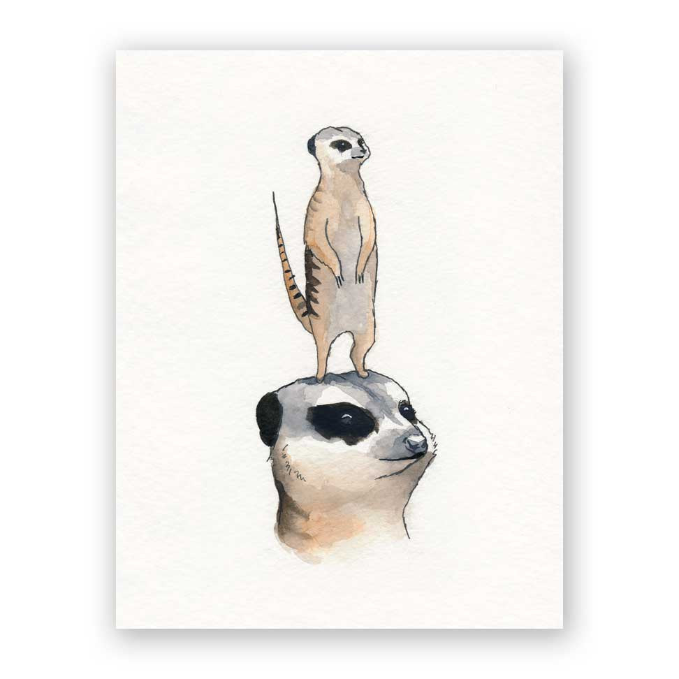 Meerkat Mother's Day Card