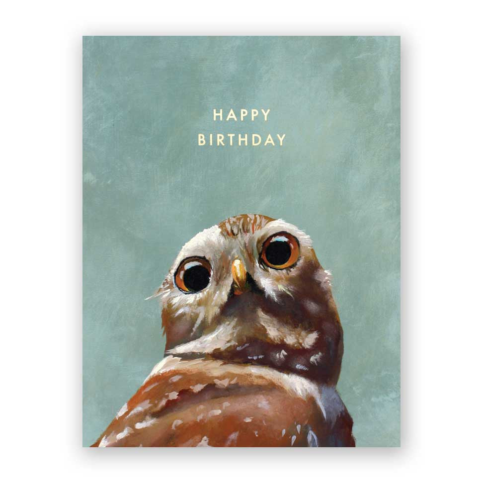 Burrowing Owl Birthday Card