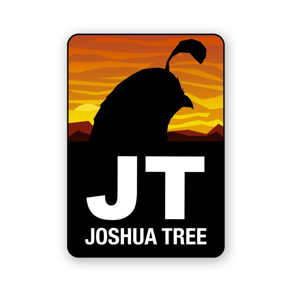 Quail Joshua Tree Sticker
