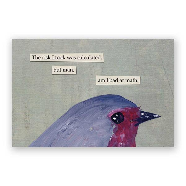Risk Postcards - Set of 12 - Troubled Birds
